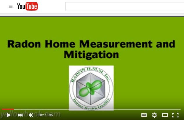 Video 1 of Radon Home Measurement and Mitigation.